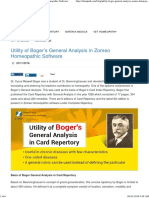 Utility of Boger's General Analysis in Zomeo Homeopathic Software