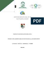 PROYECTO DE INNOVACION 2010-2011