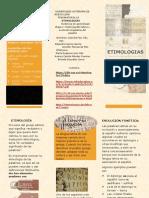 Triptico etimologias