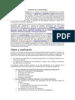 CIENCIAS DE LA EDUCACION TEORIA PAZ