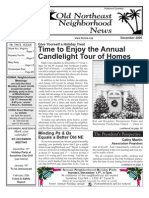 Old Northeast Neighborhood News - December 2005