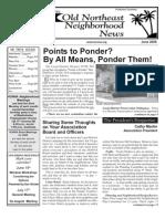 Old Northeast Neighborhood News - June 2006