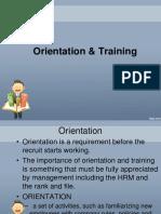 lesson 5 Orientation & Training