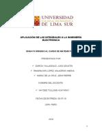 APLICACIÓN DE LAS INTEGRALES A LA INGENIERÍA ELECTRÓNICA