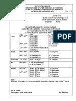Orarul si tematica Catedra Chirurgie Nr.5., sem. toamnă , anul de studii 2018 -2019-конвертирован