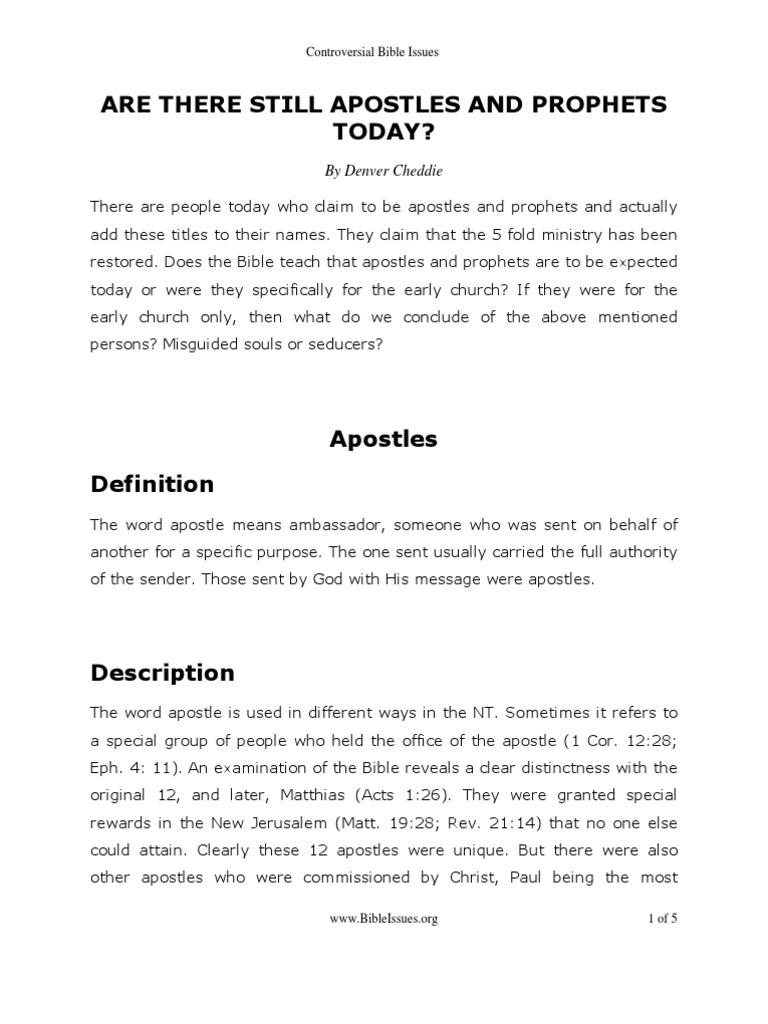 Apostles Prophets | Biblical Canon | Prophet