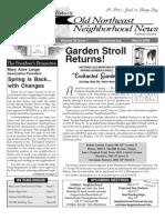 Historic Old Northeast Neighborhood News - March 2008