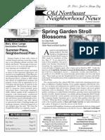 Historic Old Northeast Neighborhood News - June 2008