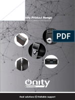Onity Product Range. Discover Security & Efficiency in a World of Connectivity
