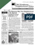 Historic Old Northeast Neighborhood News - December 2009