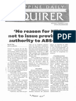 Philippine Daily Inquirer, Mar. 9, 2020, No reason for NTC not to issue provisional authority to ABS-CBN.pdf