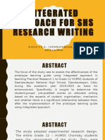 INTEGRATED APPROACH FOR SHS RESEARCH WRITING