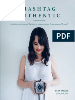 Hashtag Authentic Be your best creative self via your Instagram online presence by Sara Tasker