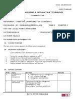 Final Course Outline Ics 2215 Project Management