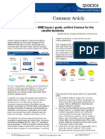 SME buyers guide, unified Comms for the smaller business