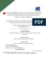 Etude Et Dimensionnement Des Systemes de Pompage Photovoltaïque Dans Les Localites Rurales Du Benin