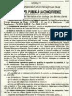 74 appel offre 28 avril 2005