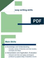 Presentation 4 - Essay Writing Skills