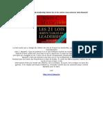 AUDIOBOOK Les 21 lois irrefutables Suivez-les et les autres vous suivront John Maxwell
