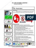 Road safety - Toolbox meeting