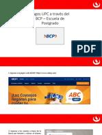 Pagos a través del BCP EPG
