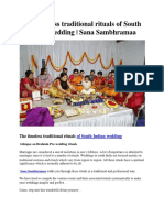 The Timeless Traditional Rituals of South Indian Wedding