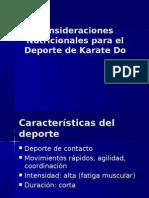 Consideraciones Nutricionales Para El Deporte de Karate