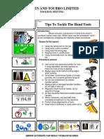 Hand tools - Toolbox meeting