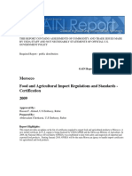 Food and Agricultural Import Regulations and Standards - Certification_Rabat_Morocco_9!15!2009