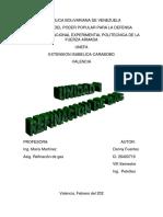 INFORME DE LA UNIDAD1 DE REFINACION DE GAS. 8VO SEMESTRE.