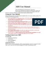 MiFi User Manual Bordoh