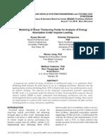 Microsoft Word 19 Bennett,Alyssa_final Paper.docx Modeling of Shear Thickening Fluids for Analysis of Energy Absorption Under Impulse Loading