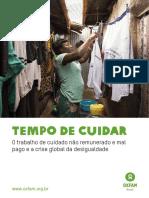 Tempo de Cuidar O trabalho de cuidado não remunerado e mal pago e a crise global da desigualdade Oxfam 2020
