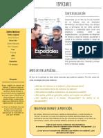 Guía didáctica ESPECIALES película elaborada por FIlm Club