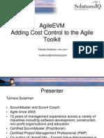 Agile Earned Value Management Workshop)