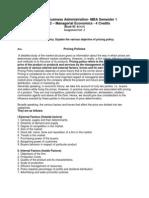 MB0042 Managerial Economics Assig Set-2