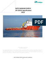 SWIWAR SURYA Dry-Dock Specification 2019