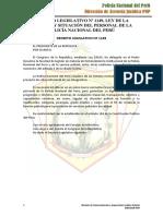 DECRETO LEGISLATIVO 1149 - LEY DE LA CARRERA Y SITUACION DEL PERSONAL DE LA PNP