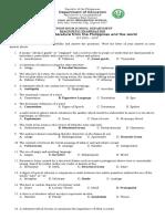 diagnostic exam 21st century lit