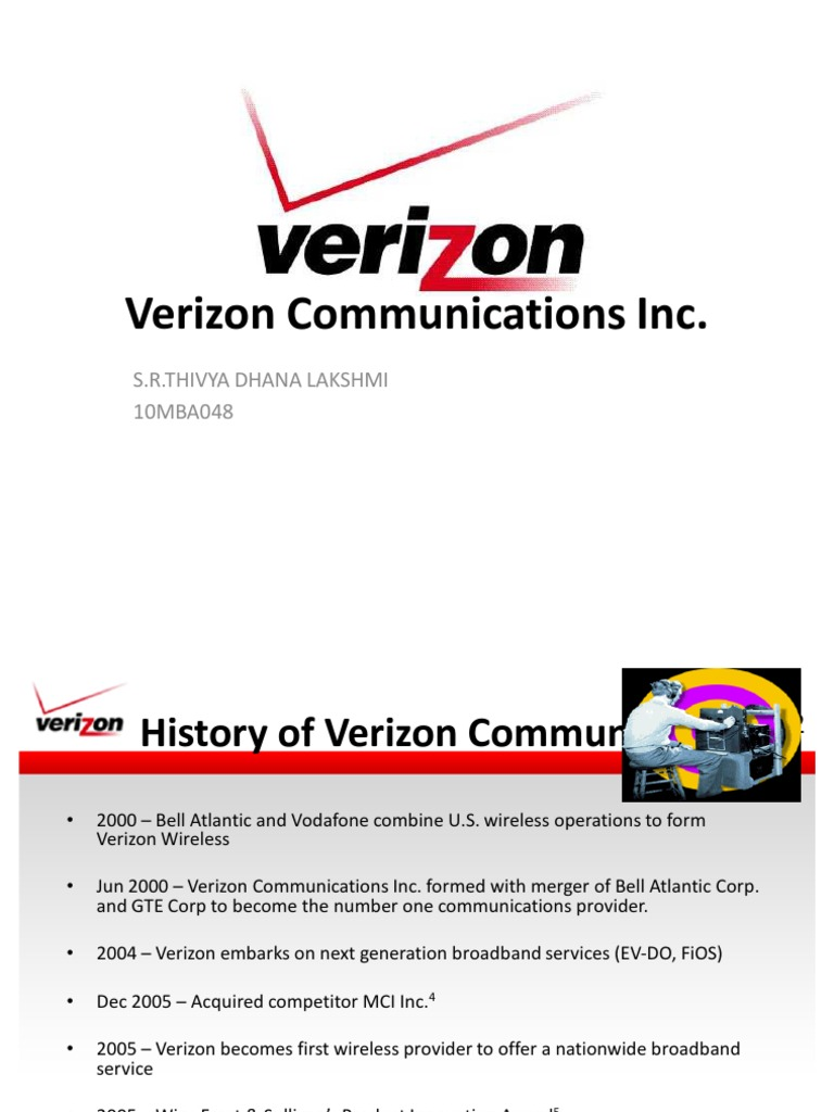 verizon merger history