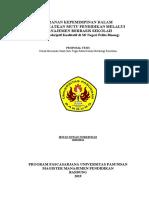Proposal Tesis Komite sekolah