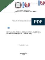 DISCIPLINA DE SINTAXE, SEMÂNTICA E PRAGMÁTICA DA LÍNGUA BRASILEIRA DE SINAIS- LIBRAS