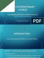 the contemporary world globalization of world politics