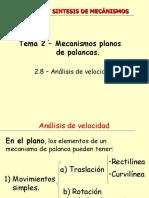 11BCS-MECANISMOS_PROBLEMAS_2_2 ANALISIS DE VELOCIDADES