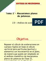 13BCS-MECANISMOS_TEMA2_5 ANALISIS DE ACELERACIONES