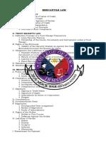 Mercantile Law syllabus