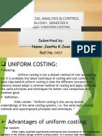 UNIFORM COST