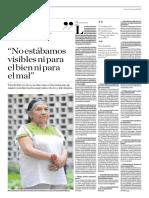 Entrevista a Tarcila Rivera Zea - El Comercio (Fernando Vivas)