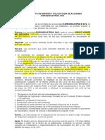 REGLAMENTO DE EMISION Y COLOCIACION DE ACCIONES AGROINDUSTRIAS SAS