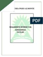 Nuevo Reglamento convivencia escolar ACADEMIA POZO ALMONTE ACTUAL 18-10